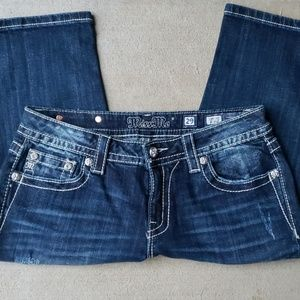 Miss Me Cropped Jeans.  Size 29